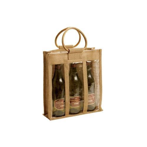 JUTE WINE BAGS -FEF09