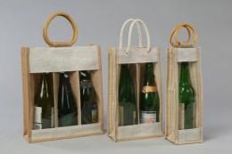 JUTE WINE BAGS -FEF12