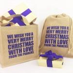 jutebags/ gift hand bag/ Christmas gift bag